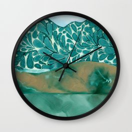 Teal Layers Wall Clock