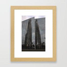 parallel reflection Framed Art Print