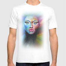 Psychedelic  Mens Fitted Tee White MEDIUM