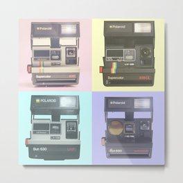 Four Polaroids Retro Cameras Metal Print