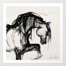 Horse (Saklavi Portrait) Art Print