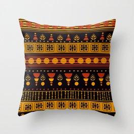 Dark African Pattern Throw Pillow