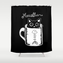 Hand Drawing Meowffee Shower Curtain