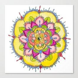 Ying & Yang Petal Mandala Canvas Print