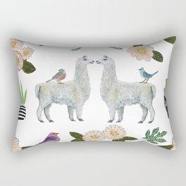 Llama and Luna Moth Rectangular Pillow