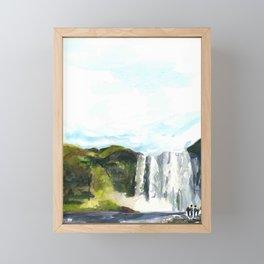 Skogafoss Framed Mini Art Print