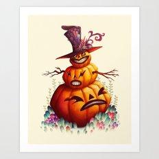 Jolly Punkin Art Print