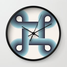 LOOPS - Phthalo Turquoise Wall Clock