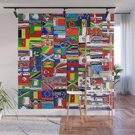 Sketchy World Flags Wall Mural
