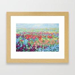 Highland Bluebonnets Framed Art Print