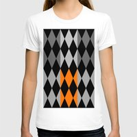 orange pattern T-shirts featuring Pattern orange by LoRo  Art & Pictures