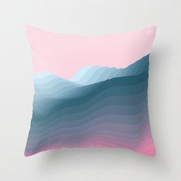 iso mountain Throw Pillow