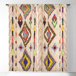 (N15) Oriental Traditional Bohemian Moroccan Artwork. Blackout Curtain