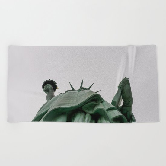 A Lady in green - NYC Beach Towel