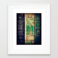 jane eyre Framed Art Prints featuring Jane Eyre by Apples and Spindles