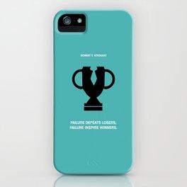 Lab No.4 - Failure Inspire Winners Robert Kiyosaki Inspirational Quotes poster iPhone Case