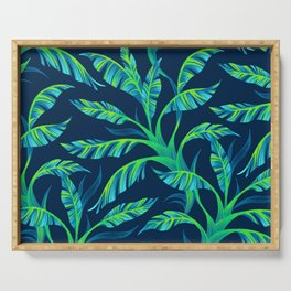 Paradise Leaves - Green Serving Tray