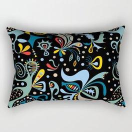 Real Deal black Rectangular Pillow