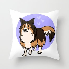 Dark Sable Shetland Sheepdog Throw Pillow