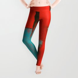 The Corners of My Mind, Abstract Painting Leggings