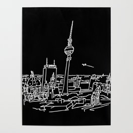 Panorama of Berlin with TV-tower Poster