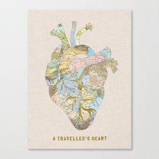 A Traveller's Heart (UK) Canvas Print
