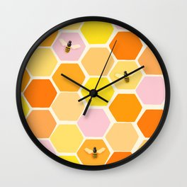 Busy As A Bee In A Hive Wall Clock
