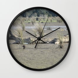 Log in dry marsh Wall Clock