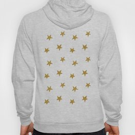 Merry christmas-Stars shining brightly-Gold glitter pattern Hoody