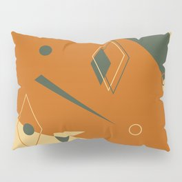 Geometrical style print illustration Pillow Sham