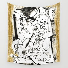 Things to Carry - b&w Wall Tapestry