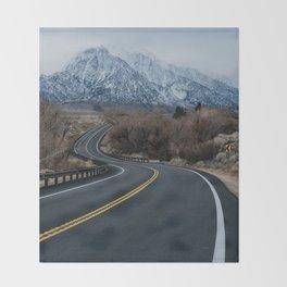 Blue Mountain Road Throw Blanket