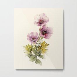 Geranium & Gardenmint Metal Print