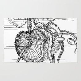 Mollusc | Vintage sketch | Ocean Creature | Ocean Decor Rug