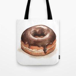 Chocolate Glazed Donut Tote Bag