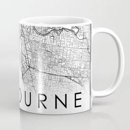 Melbourne City Map Australia White and Black Coffee Mug