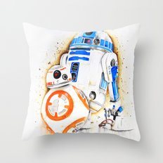 R2d2&BB8 Throw Pillow