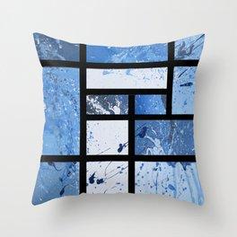 Movin with Pollock, Mondrian & Haring  Throw Pillow
