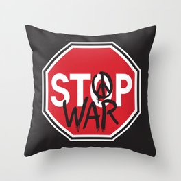 Stop War Throw Pillow