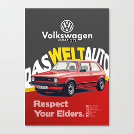 Respect Your Elders - 2 Canvas Print