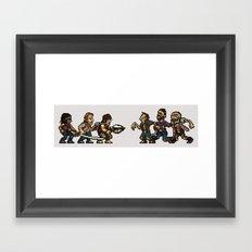 The Slugging Dead Framed Art Print