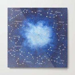 Cosmic Horoscope Metal Print