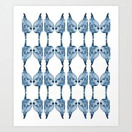 Indigo Sunfish Art Print