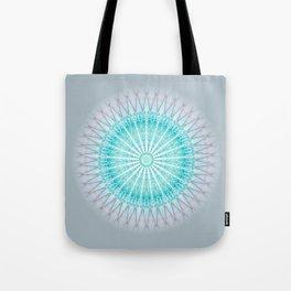 Turquoise Boho Mandala Tote Bag