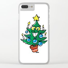 Happy Christmas tree Clear iPhone Case