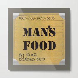 Man food Metal Print