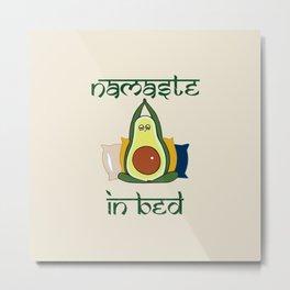 Avocado Namaste In Bed Metal Print
