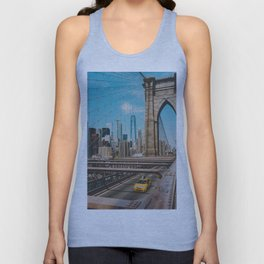 The Bridge in New York City (Color) Unisex Tank Top