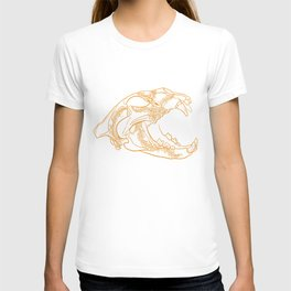 Lion skull with floral ornament T-shirt