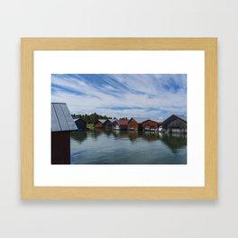 Boathouses 2 Framed Art Print
